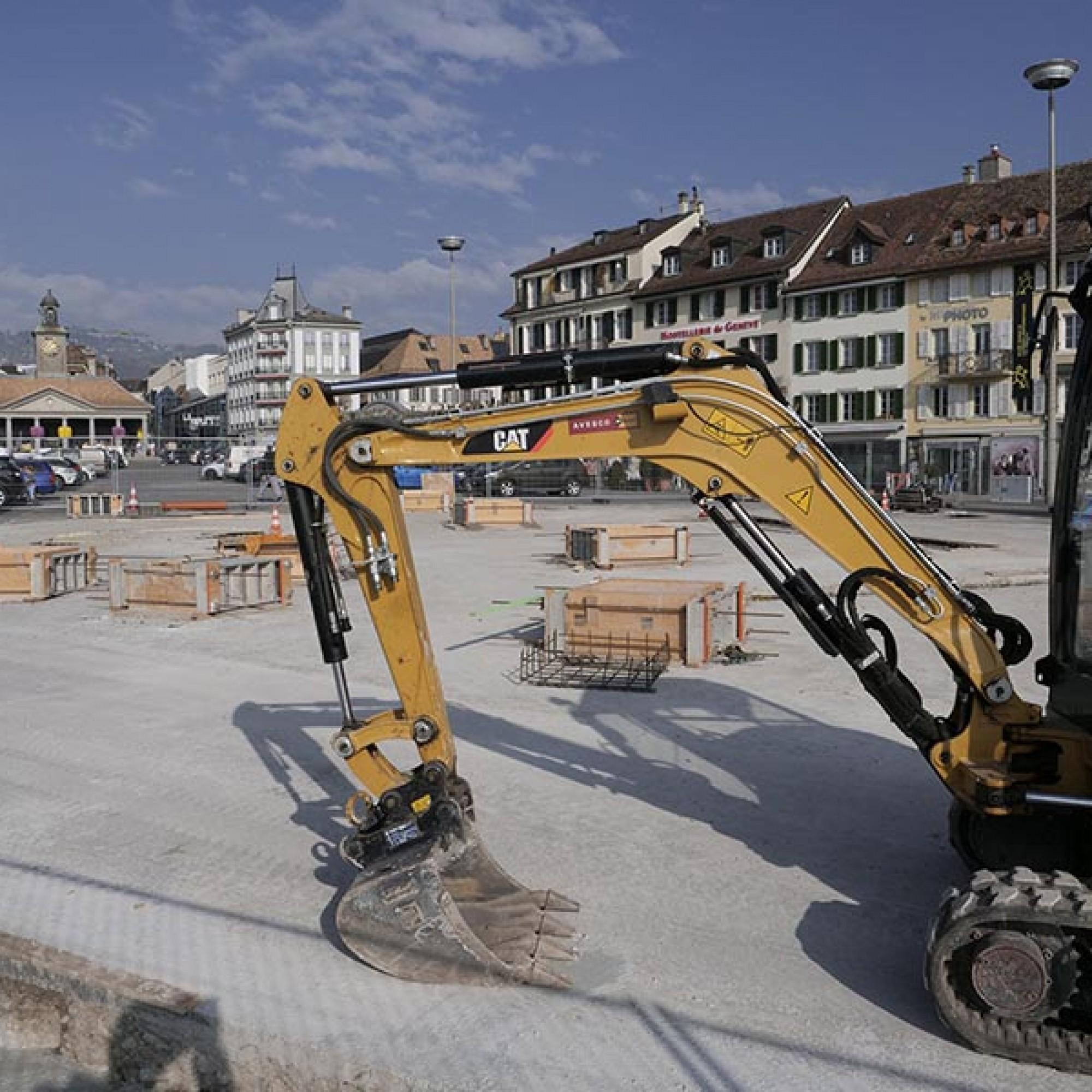 Les fondations de la future arène doivent être achevées d'ici mi-décembre. (Image 1 sur 6) Jean-A. Luque