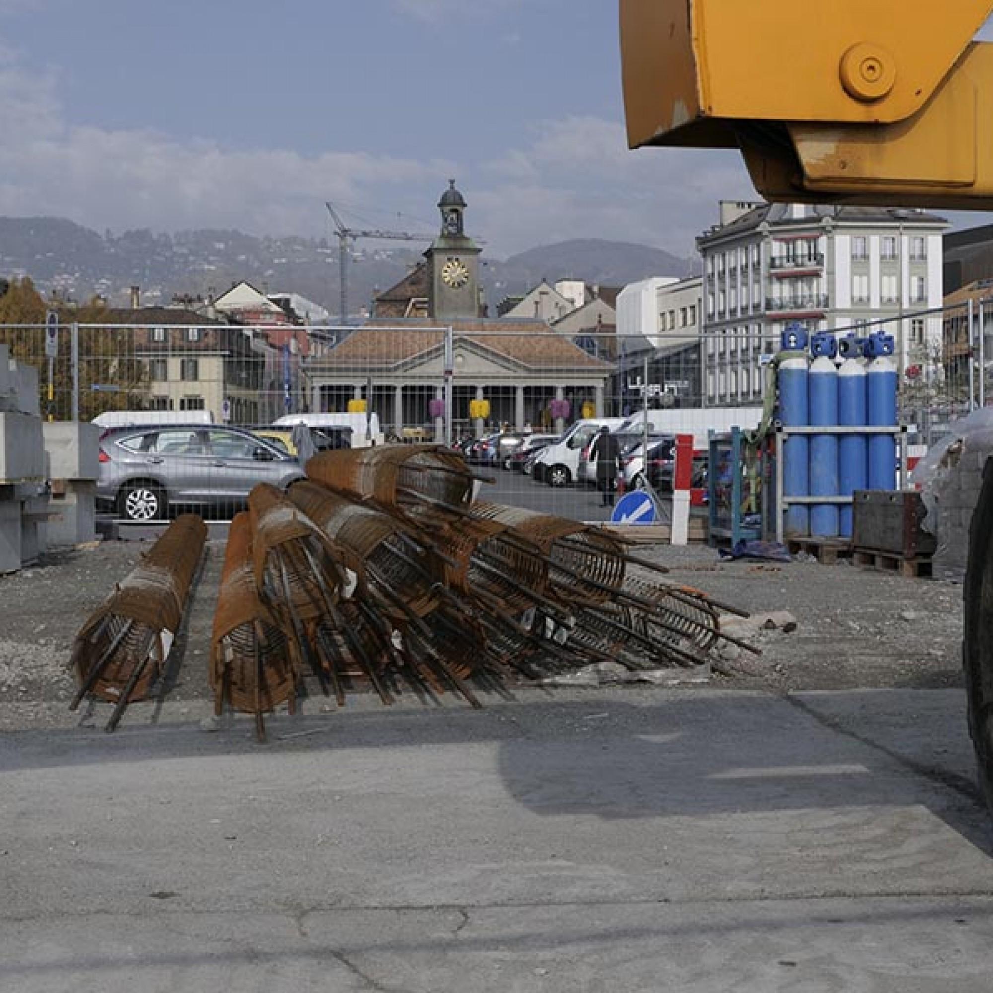 Pas moins de 150 pieux vont être installés d'ici la fin de l'année. (Image 4 sur 6) Jean-A. Luque