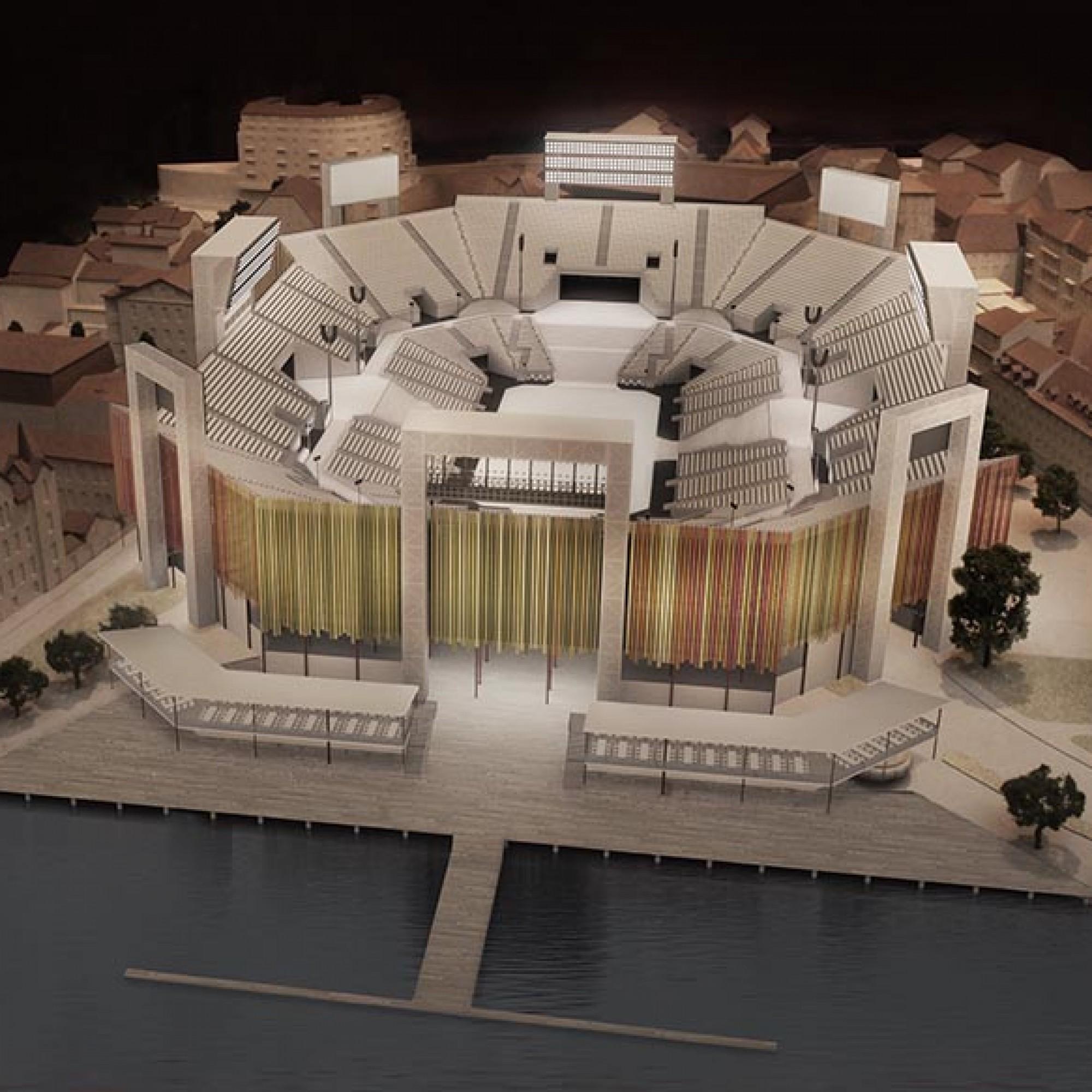 L'arène est conçue pour accueillir 20'000 spectateurs et 6000 figurants. (Image 5 sur 6) FEV2019