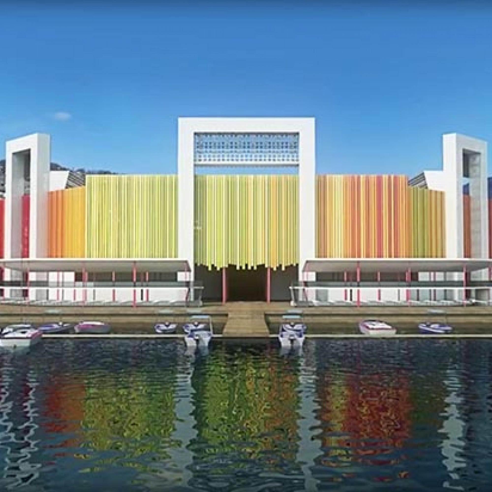 Une  plateforme de 3300 m2 sera posée sur le lac, en appui sur 260 pieux en bois. (Image 6 sur 6) FEV2019