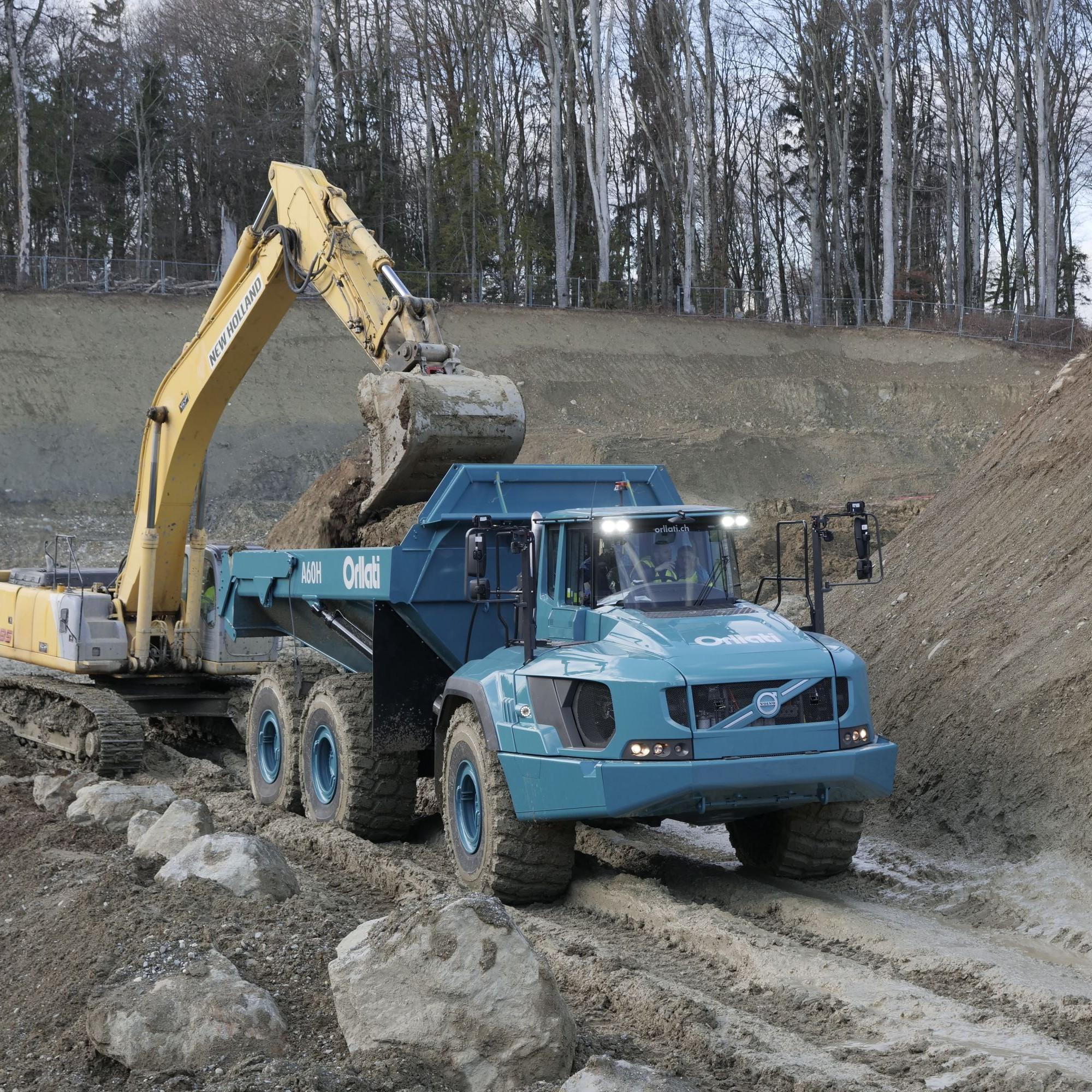 La capacité de charge utile du Volvo A60H est impressionnante: 55 tonnes!