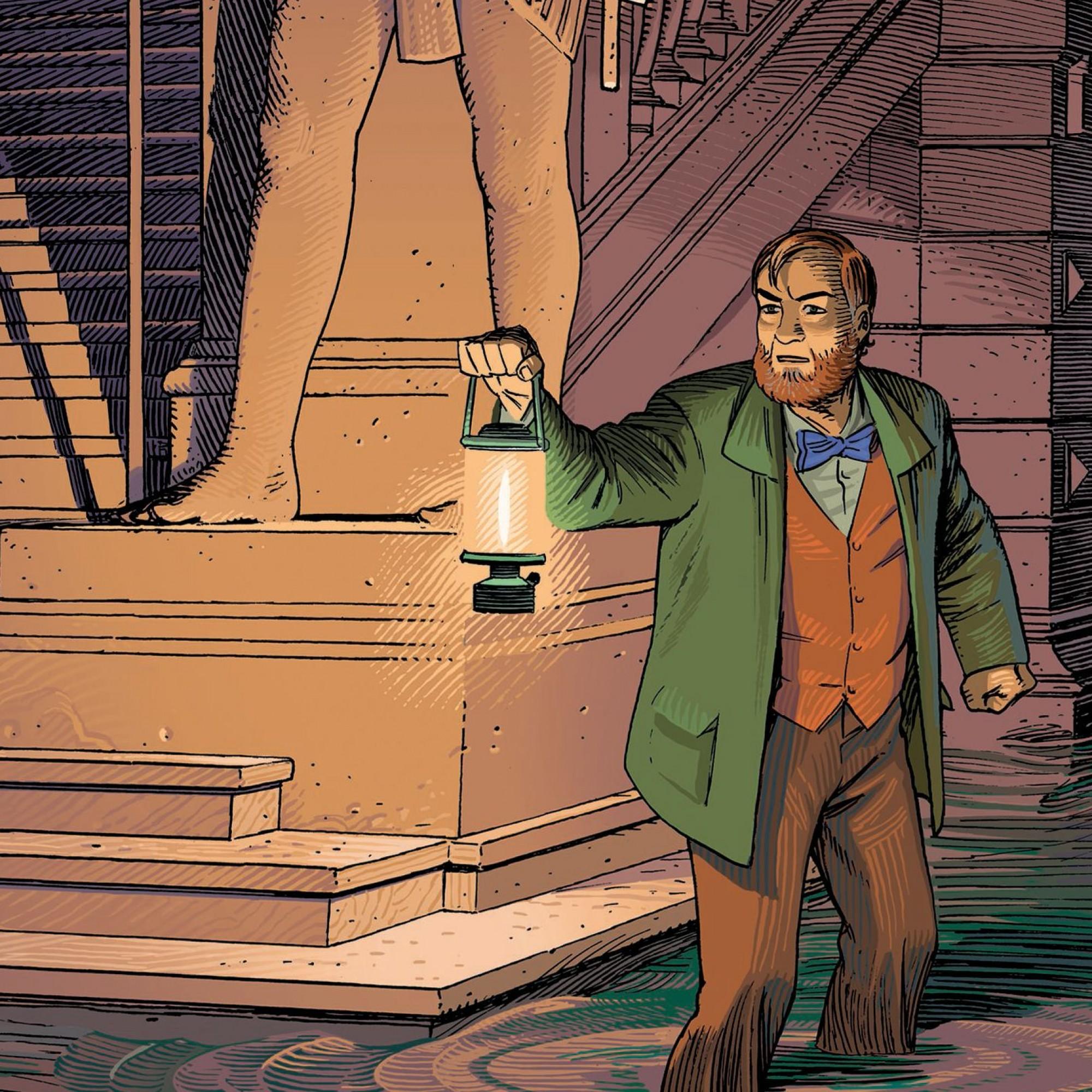 """Dans """"Le Dernier Pharaon"""", un professeur Mortimer vieillissant s'enfonce dans un Palais de Justice bien mystérieux."""