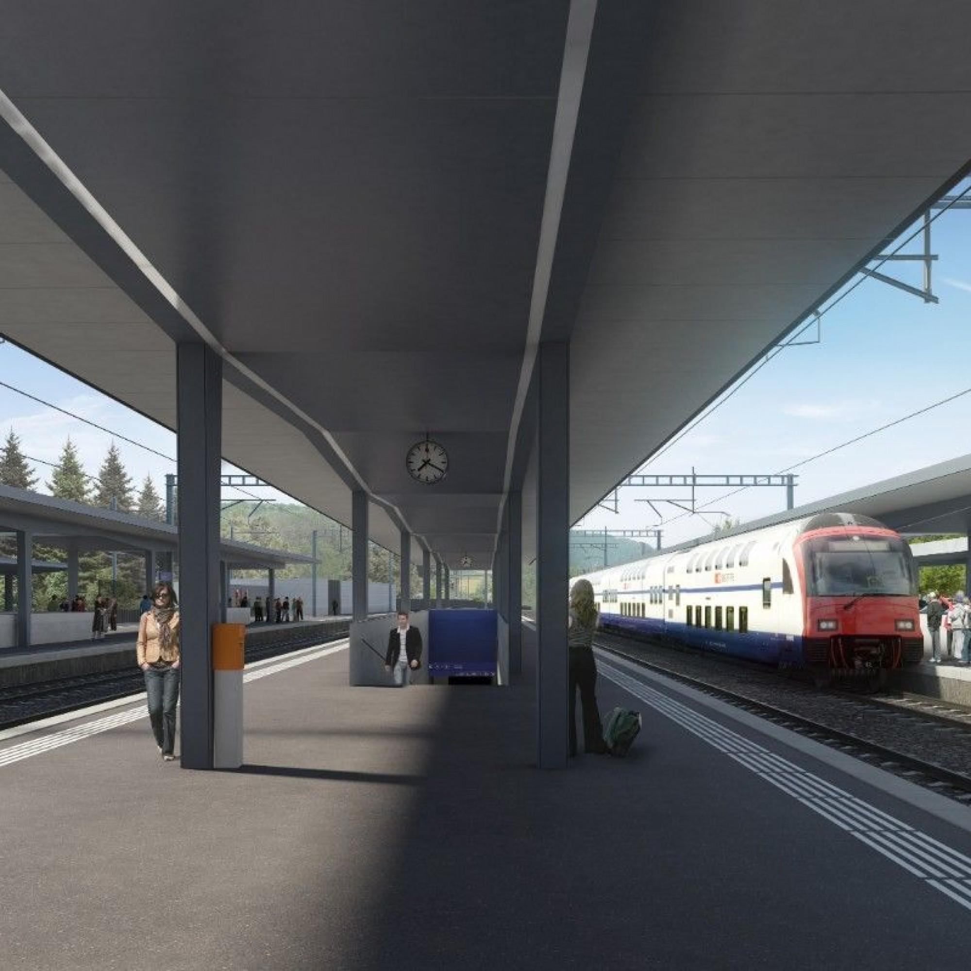 Aménagement à quatre voies de la gare de Liestal