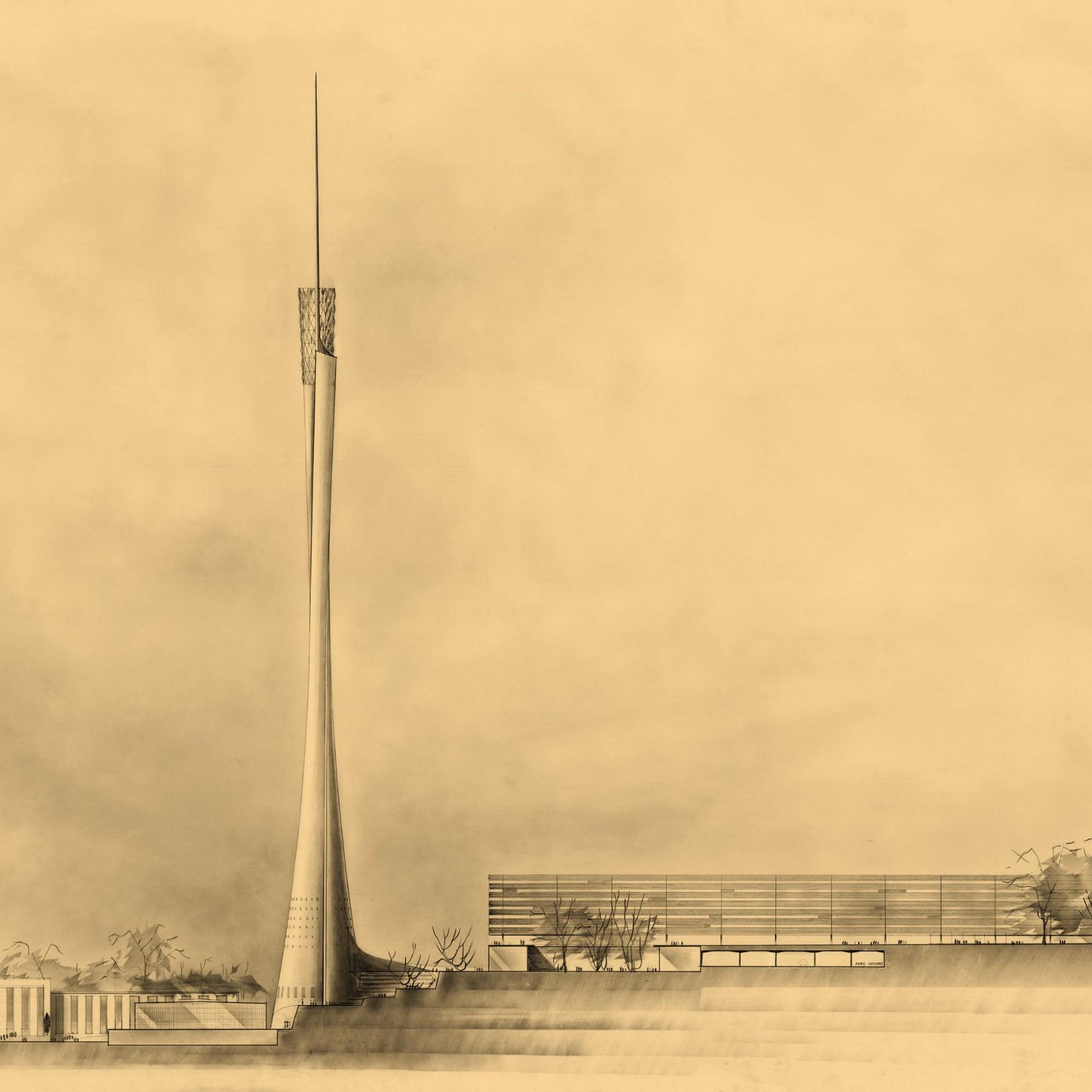 Projet tour de Beaulieu à Lausanne de Jean Tschumi (1961)