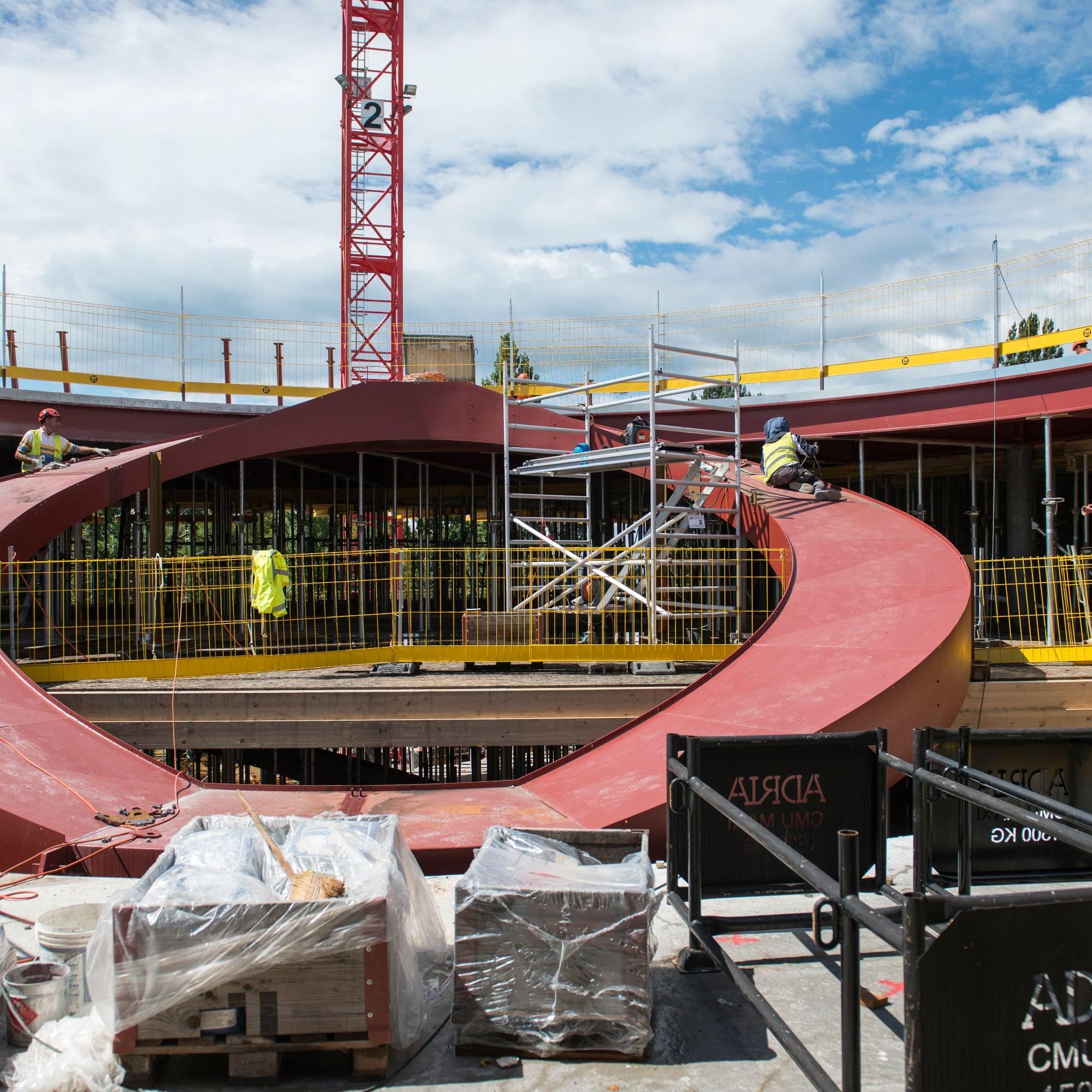 CIO: escalier du siège olympique à Vidy-Lausanne.