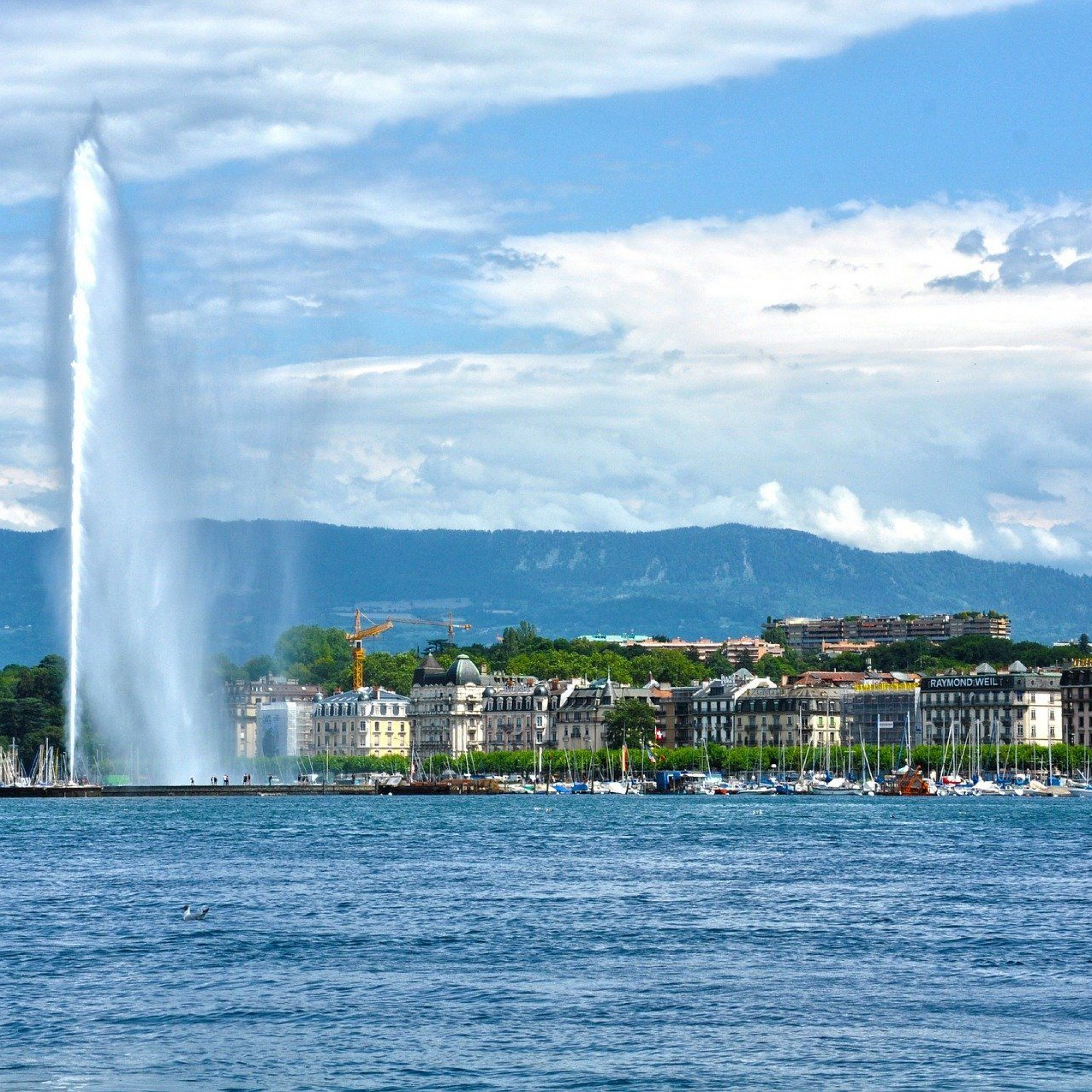 Jet d'eau, Genève, Suisse, lac Léman