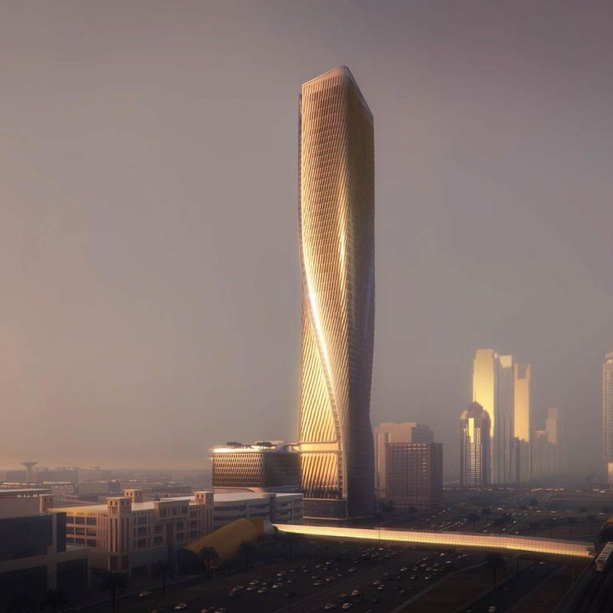 Wasl Tower à Dubai, la plus grande façade céramique du monde