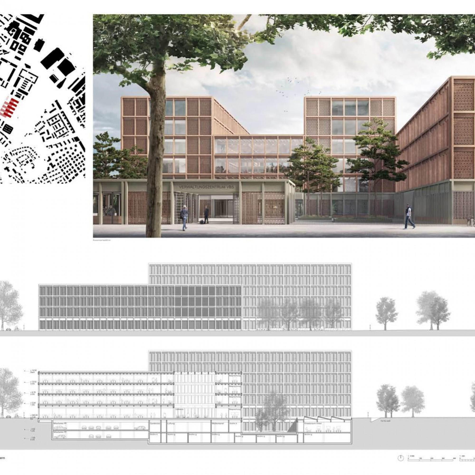 DDPS. Centre administratif armée Berne, Büro B Architekten, Oskar Bider