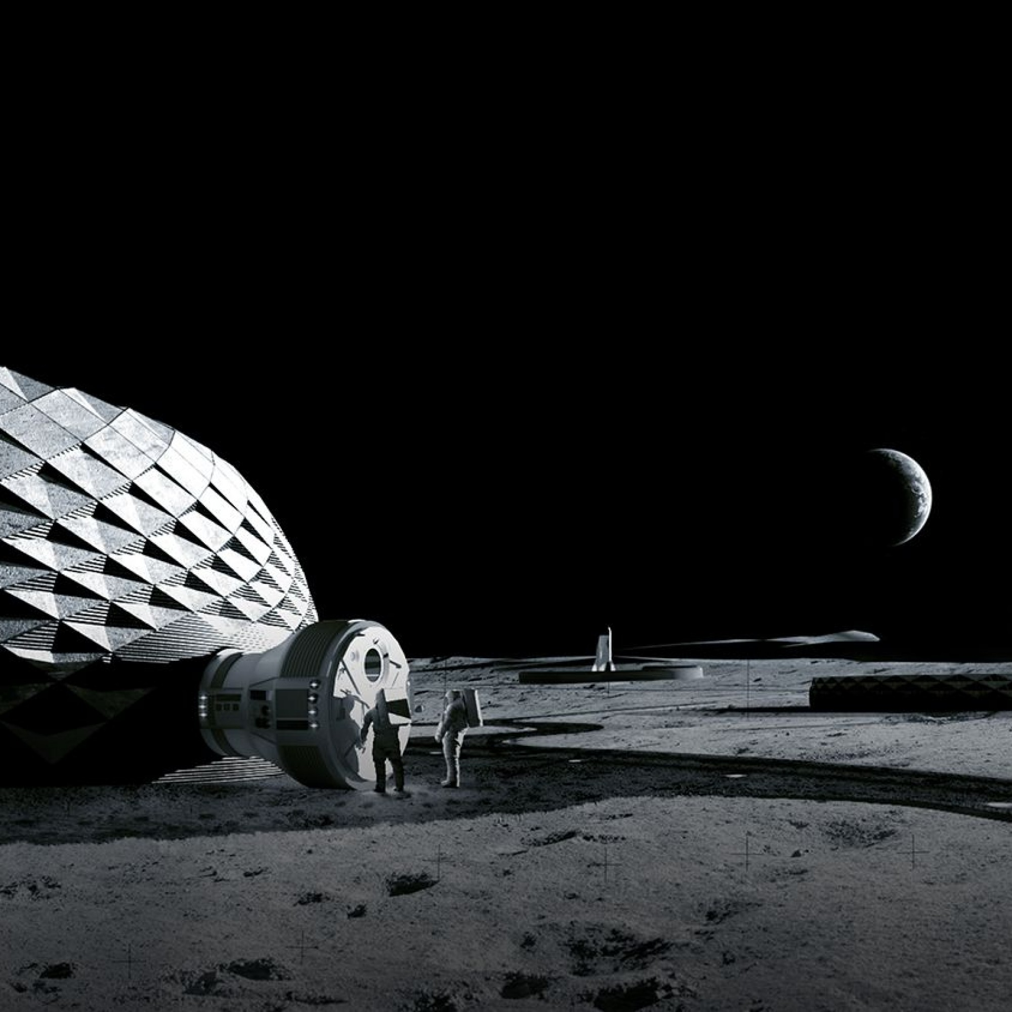 Le cabinet d'architecture BIG développe en collaboration avec ICON et la NASA un projet de station lunaire. Le but est de faire appel à des matériaux de construction locaux et d'utiliser des imprimantes 3D.