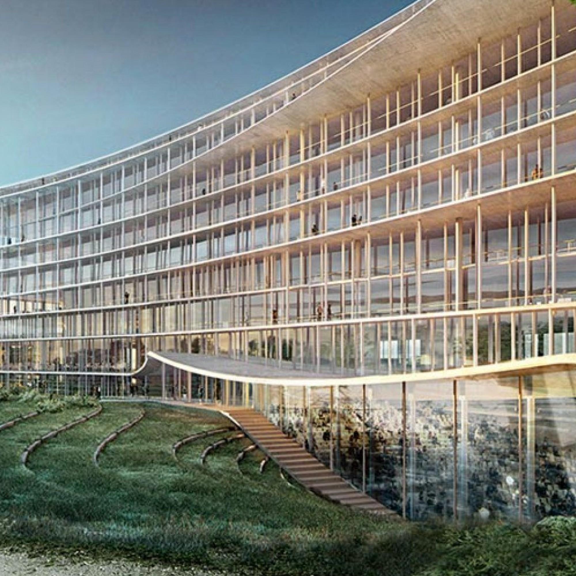 Conçu par le bureau d'architectes Herzog et Meuron, le nouveau siège de la banque Lombard Odier conjugue élégance, luxe et durabilité sur ses quatre façades identiques.