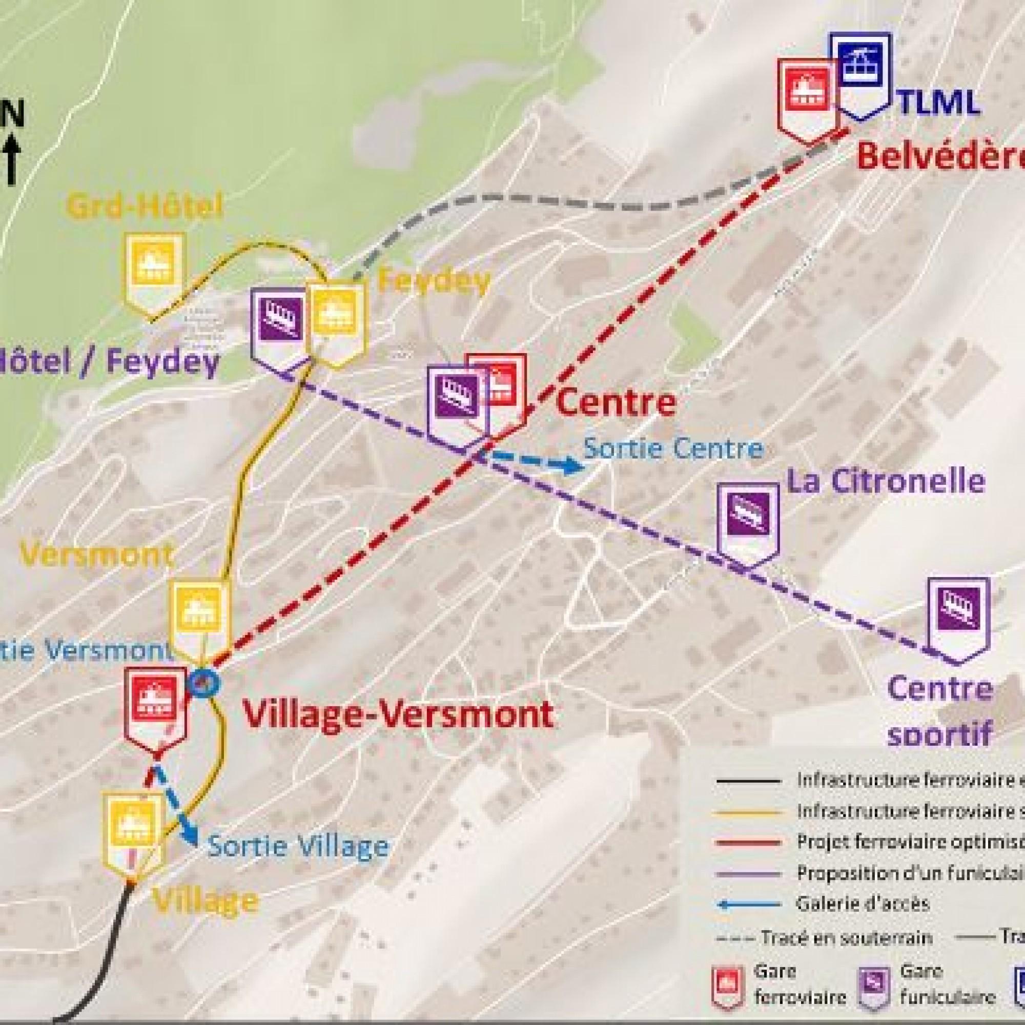 Leysin complètera le tunnel ferrovaire par un funiculaire.