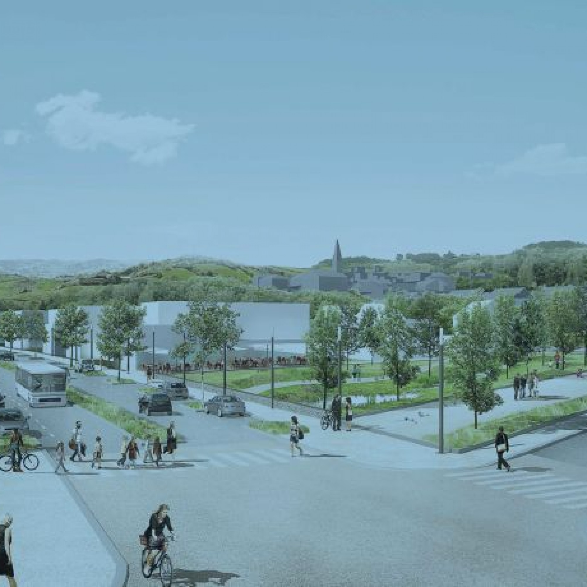 La commune de Blonay veut profiter futur développement de sa zone sud pour aménager un vrai parc urbain.
