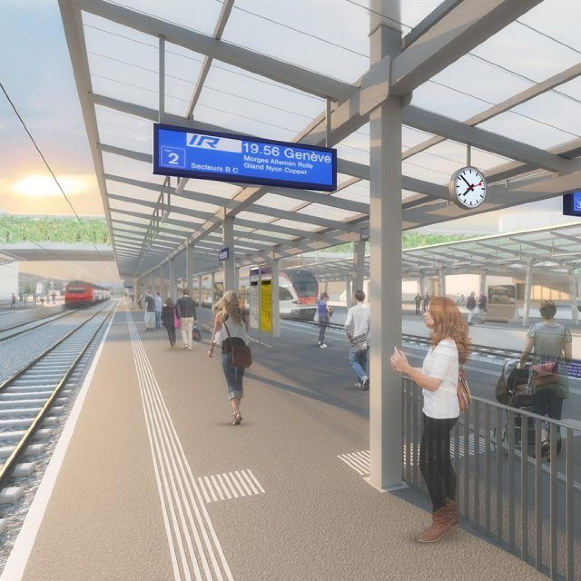 Le site de la gare CFF de Renens se prépare déjà à l'arrivée du futur tram de l'Ouest lausannois.