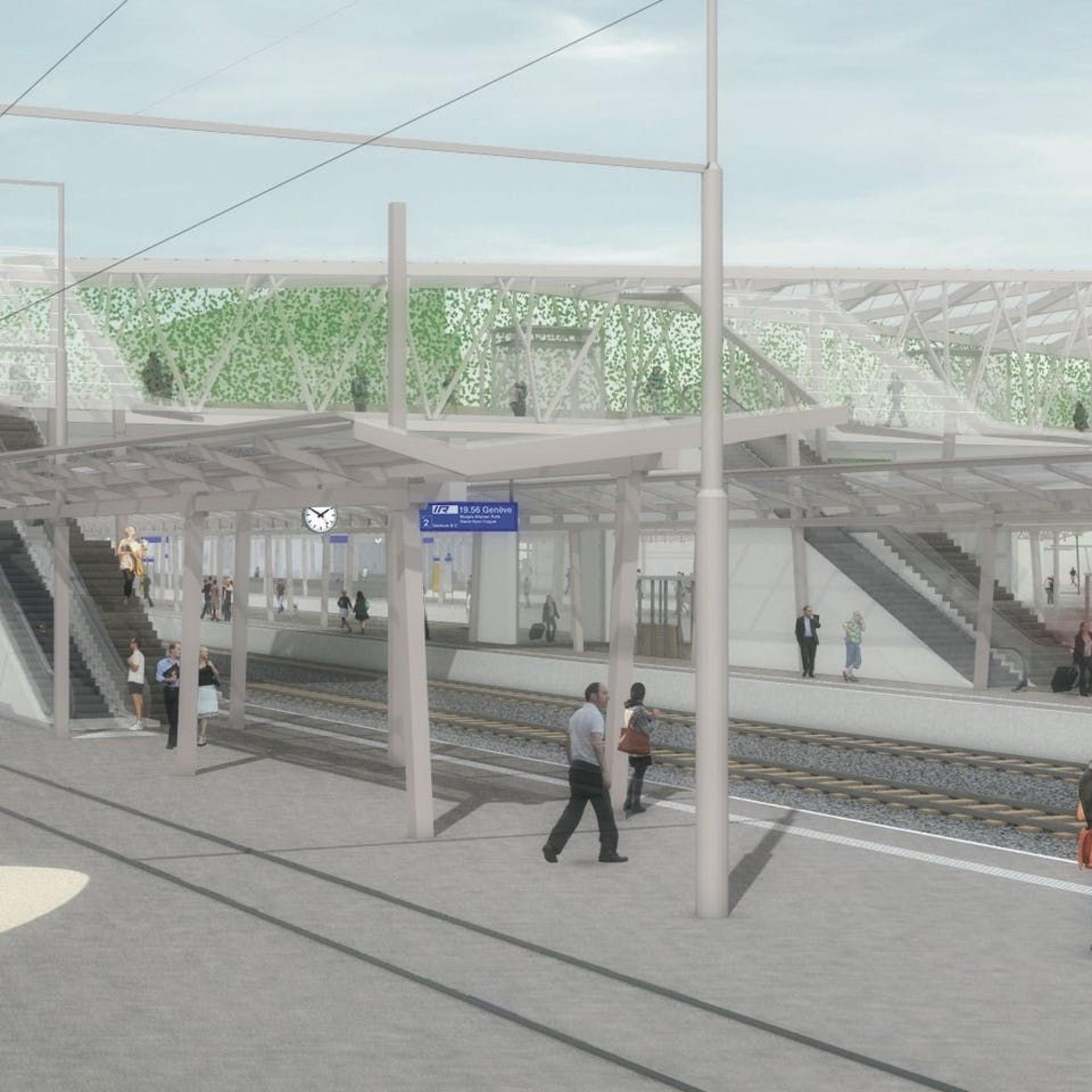 La future gare CFF de Renens, un carrefour important des transports publics de l'ouest lausannois.