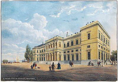 Siège de la première Académie, le Collège latin (ici sur une aquatinte de 1855) est un haut lieu culturel en ville.