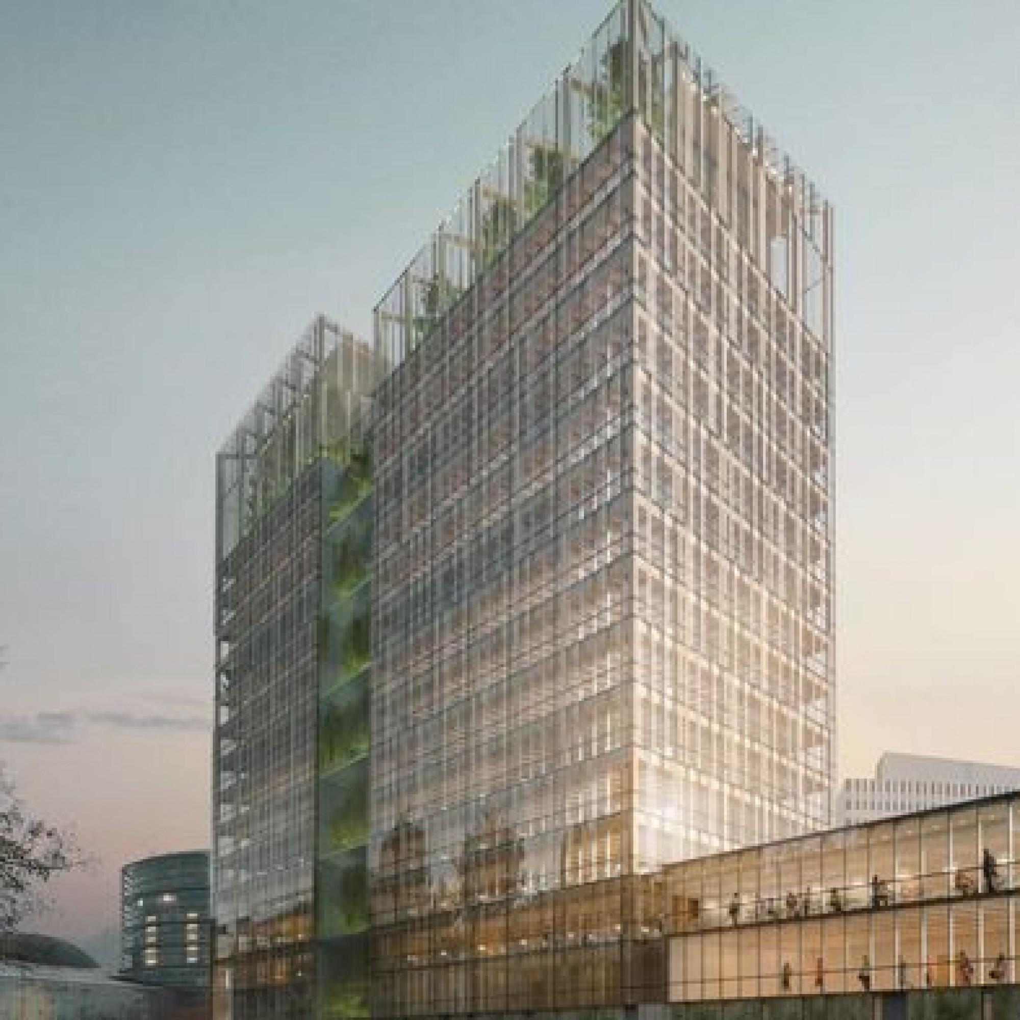 Quinze étages, pour un coût de 80 millions d'euros, abandonnés en raison de la crise sanitaire