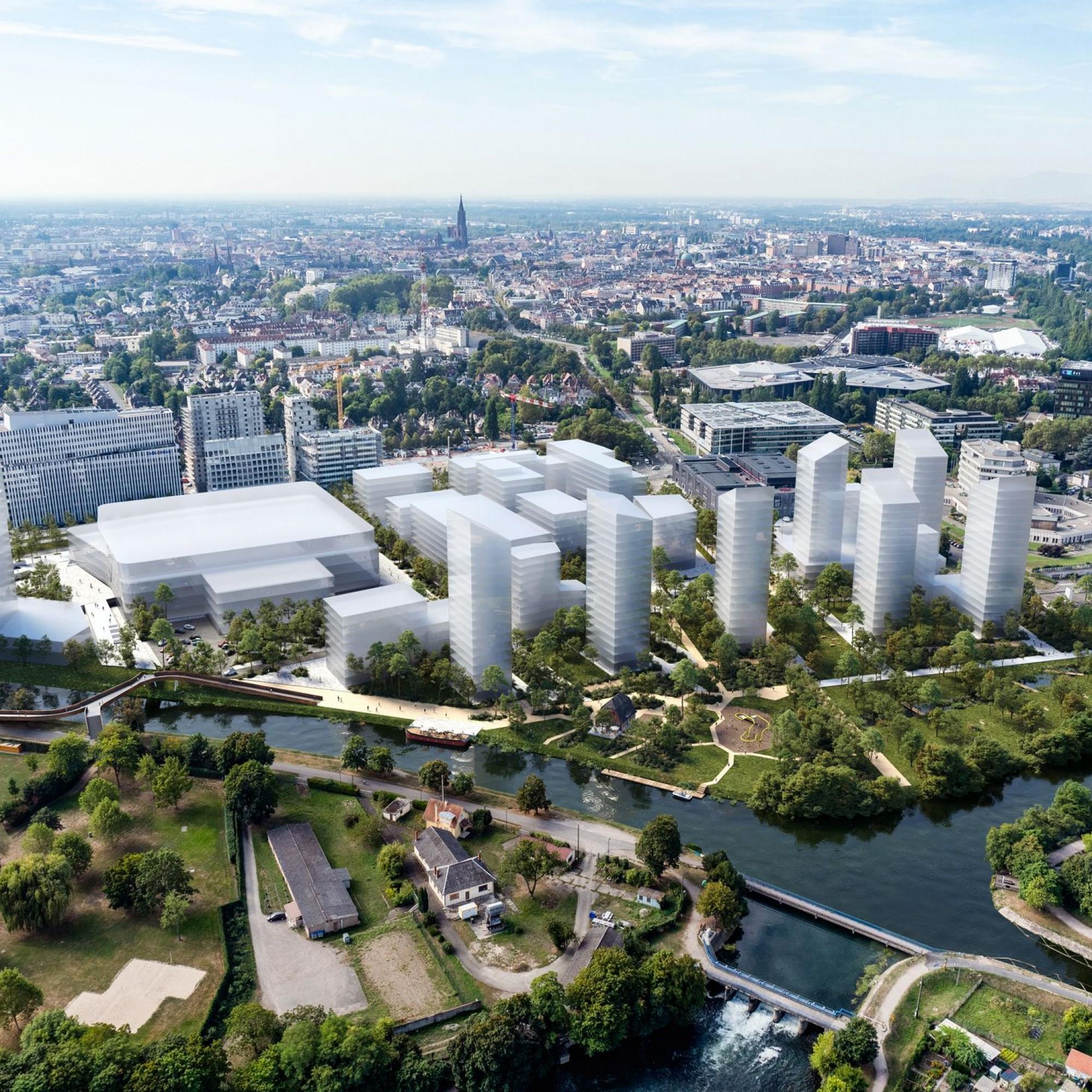 Archipel 2 se développe à Strasbourg autour de divers projets de bureaux, de commerces et de logements.