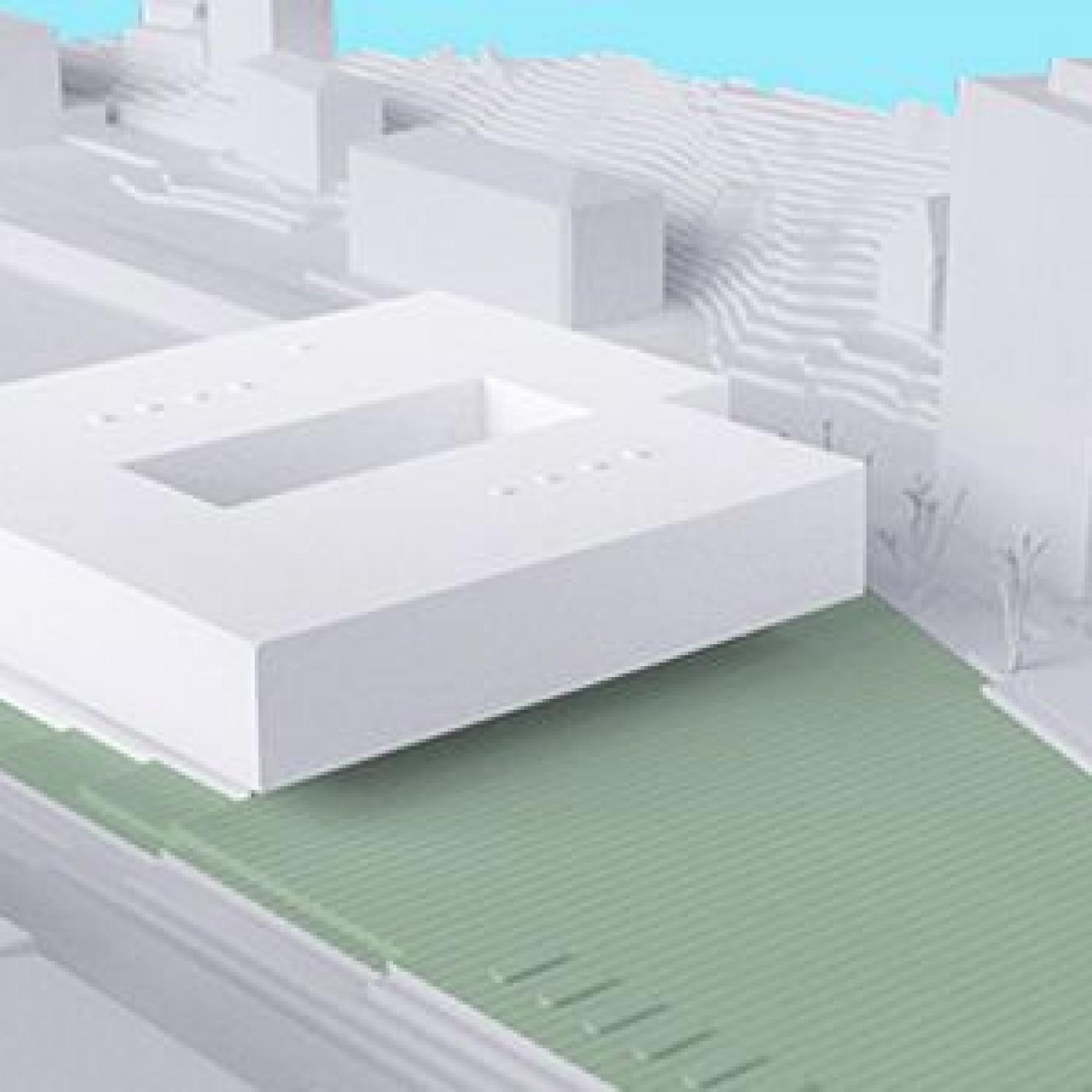 Le projet prévoyait de construire 60 salles de classe, une salle de gymnastique triple, une bibliothèque et un aula de 280 places.