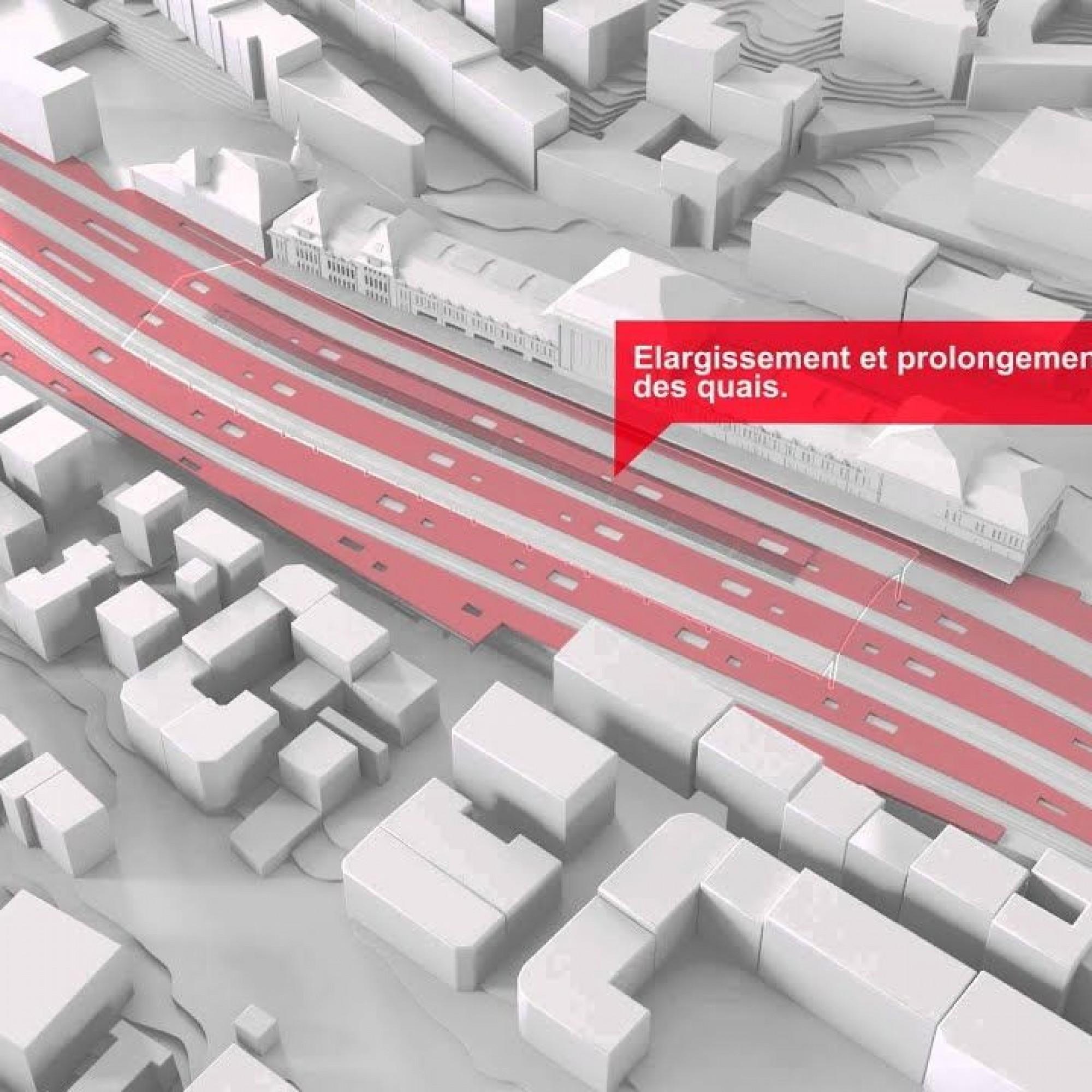 Les travaux concernent à la fois les infrastructures ferroviaires et les espaces commerciaux de la gare.