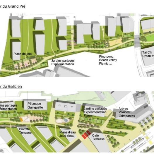 La future voie verte de Prilly offrira des espaces de rencontres sur une longueur de 600 m.
