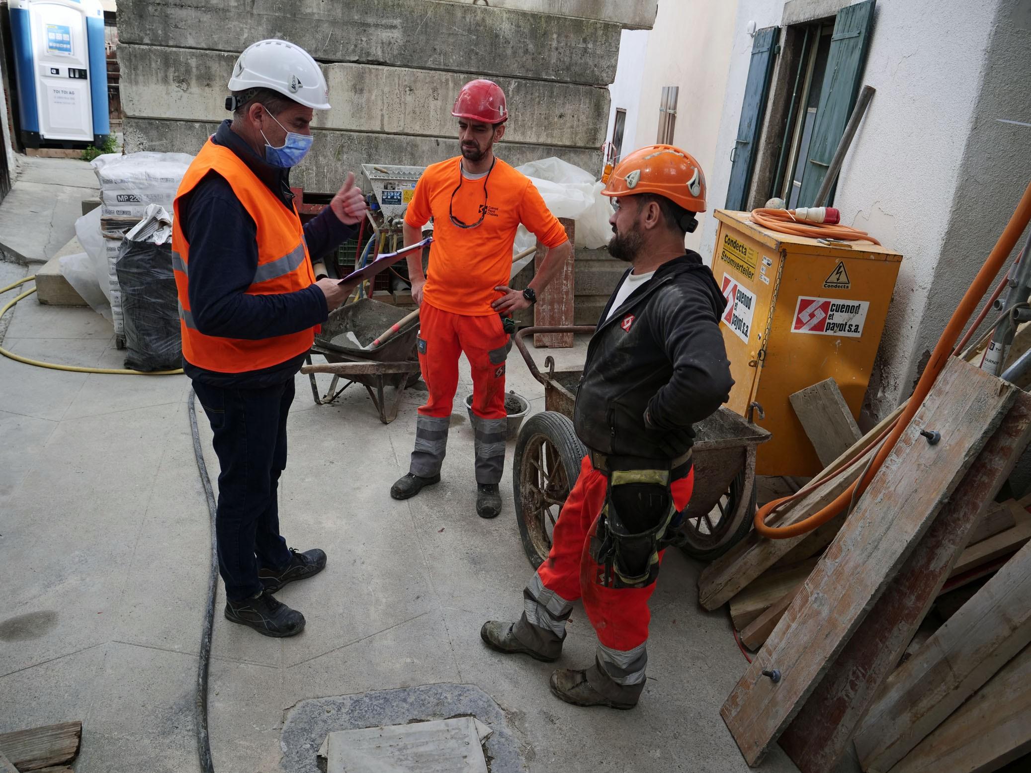 Sécurité sur les chantiers au temps du Covid: inspection