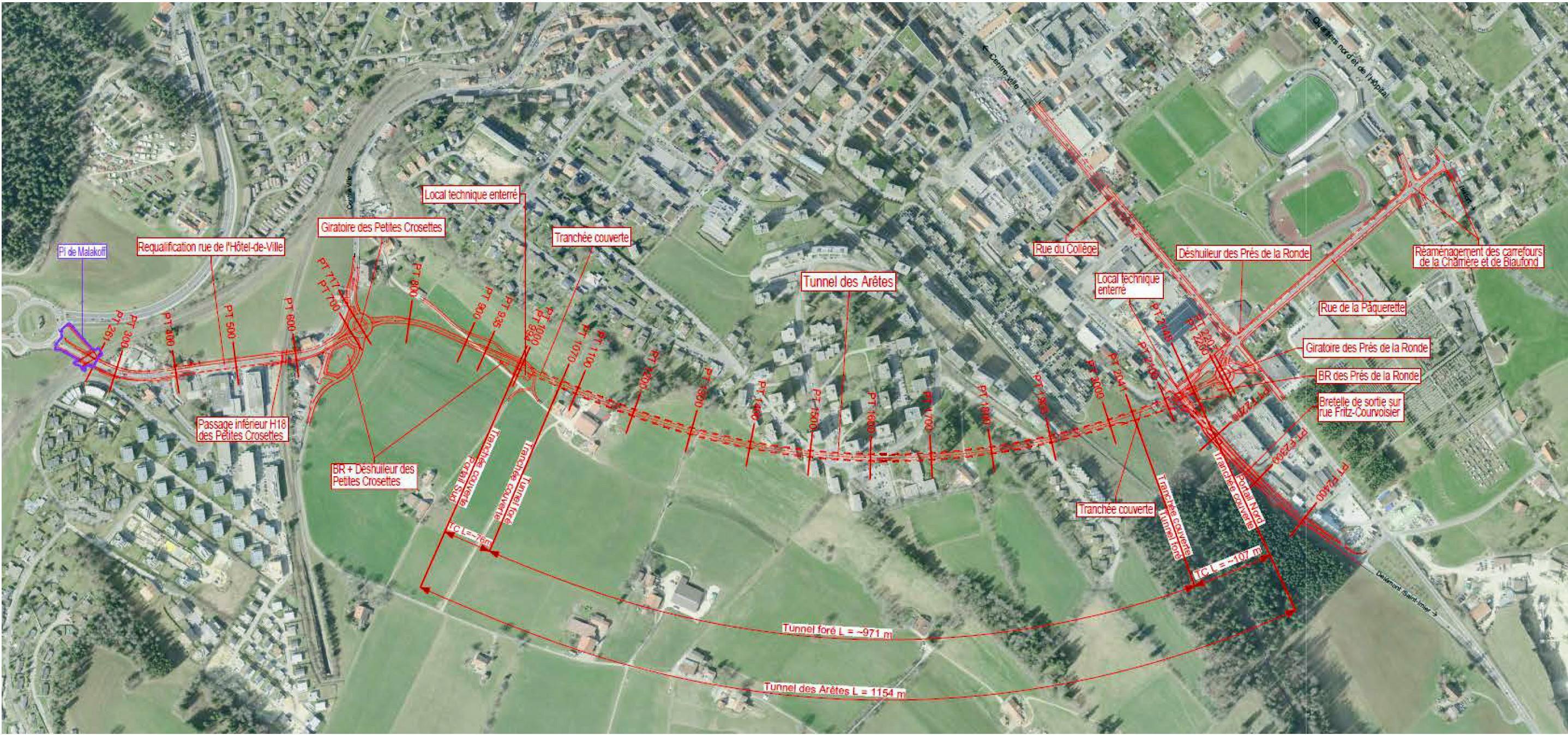 Contournement routier de La Chaux-de-Fonds par H18