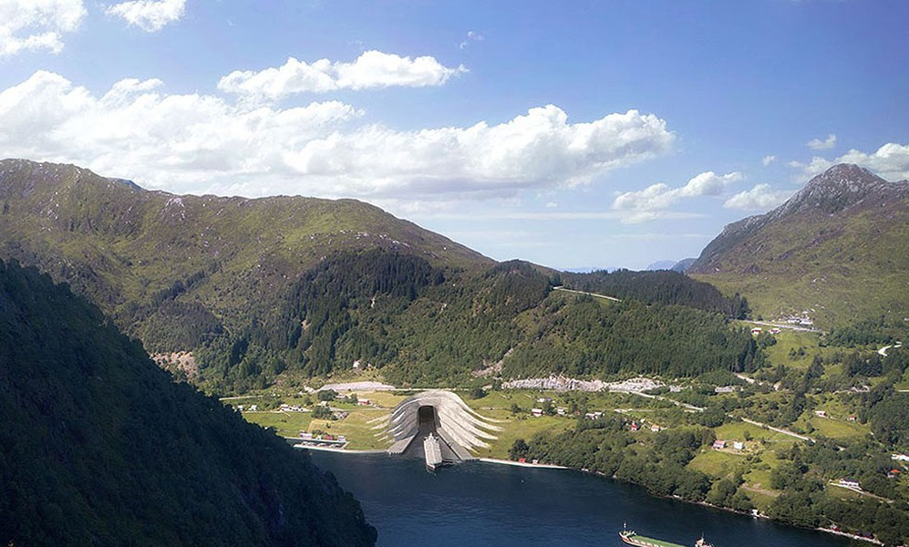 Tunnel bateaux Norvège 1
