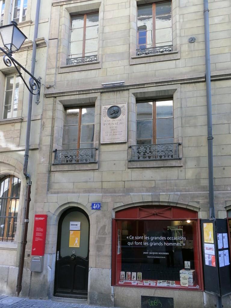 Maison naissance de Jean-JacquesRousseau rénovée à Geneve