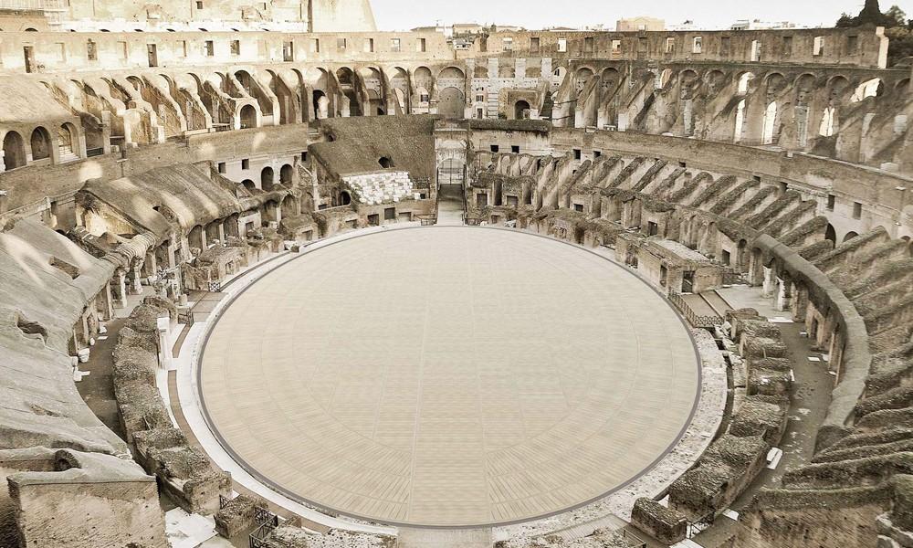 Colisée Rome plancher