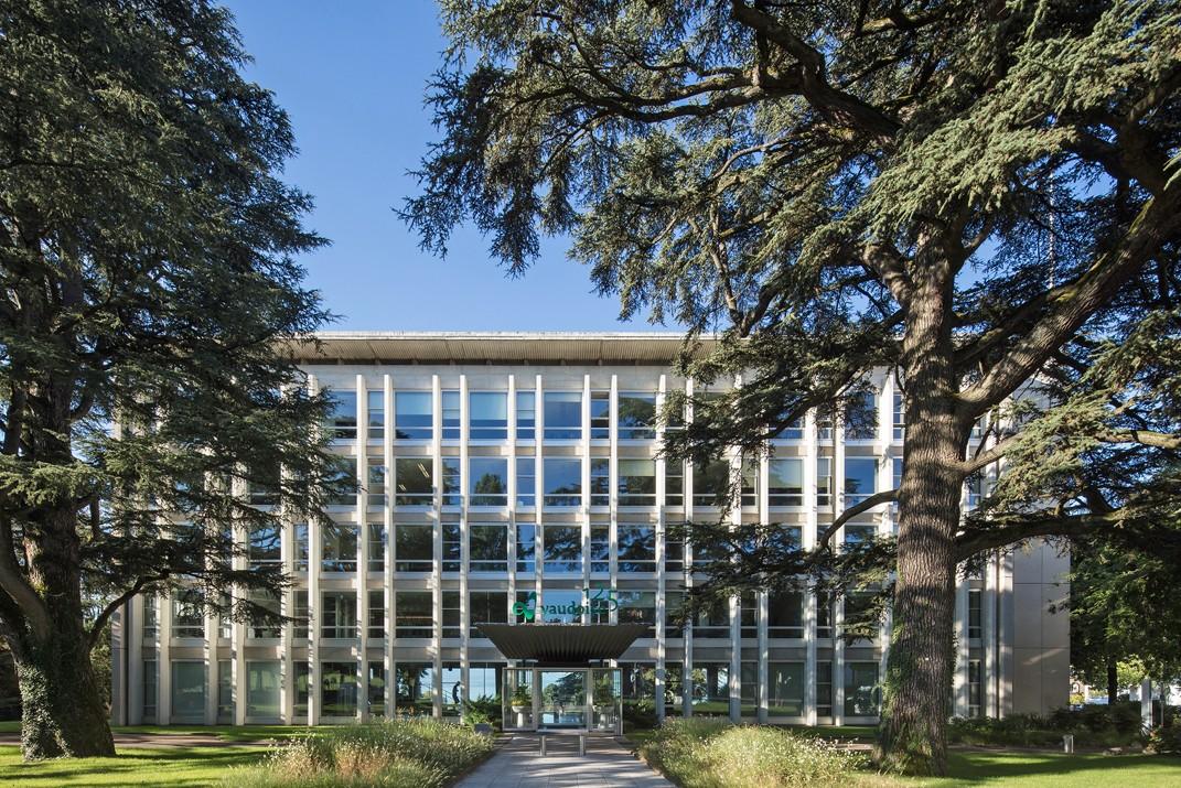 WEB5. Jean Tschumi, Siège de la Mutuelle Vaudoise Accidents, Lausanne (1951-1956)Cité de l'architecture & du patrimoine. photo Christian Richters