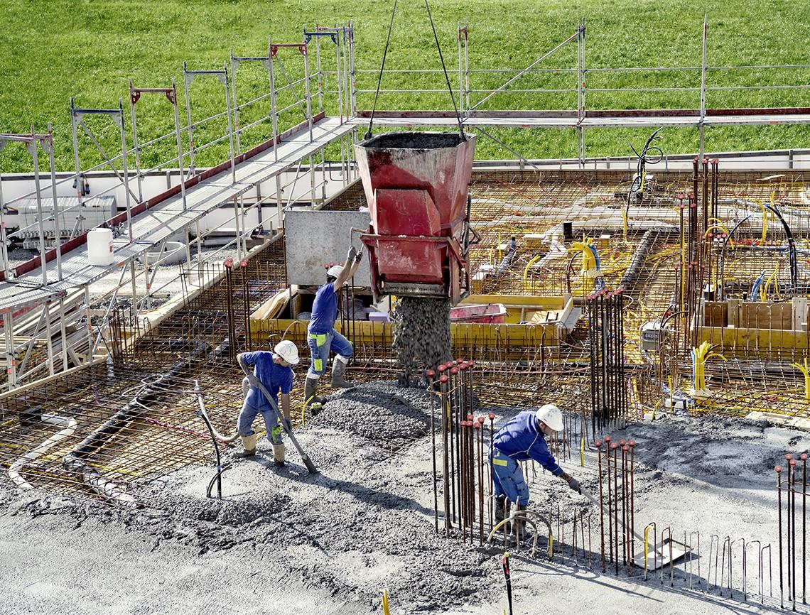 Matériaux construction en Suisse béton