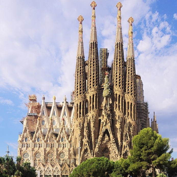 La Sagrada Familia d'Antoni Gaudi à Barcelone