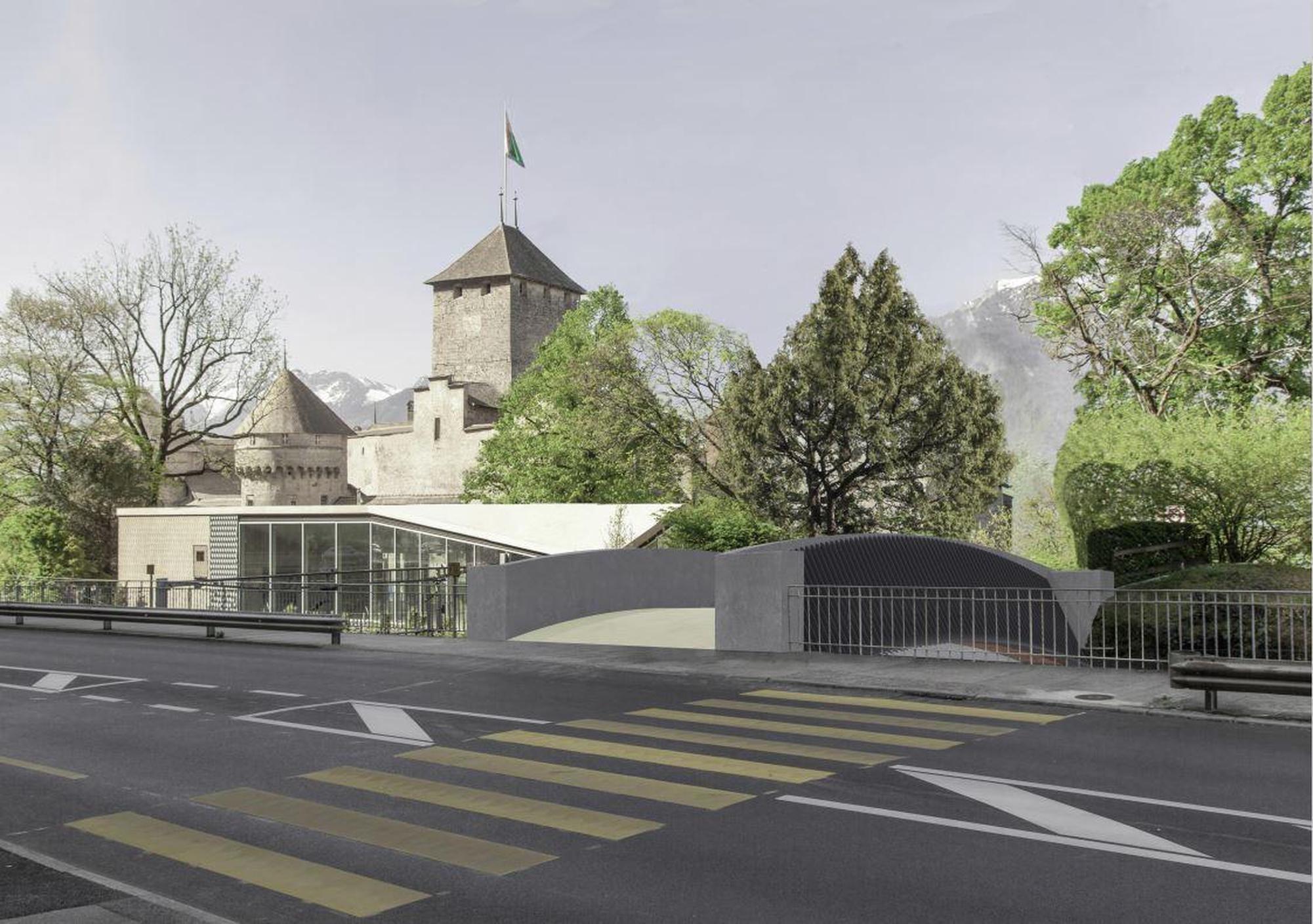 Nouveau pont ferroviaire CFF du Château de Chillon