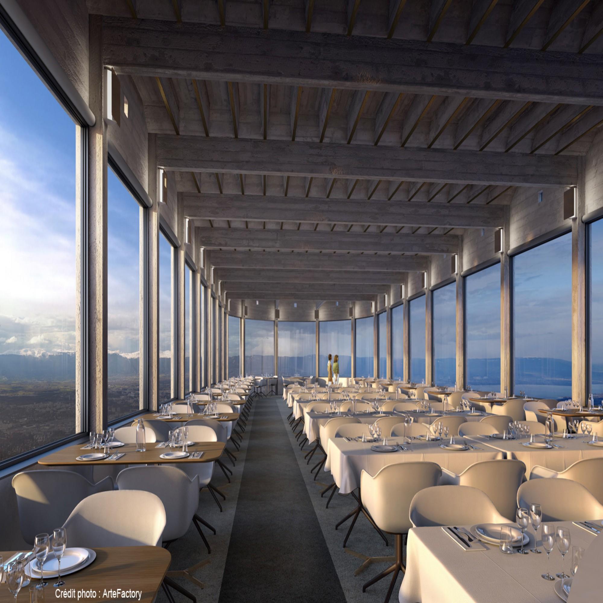 Un nouveau restaurant de 132 places sera construit au-dessus de l'arrivée du téléphérique du Salève.