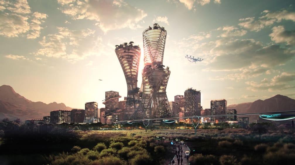 Méga-projet très ambitieux de métropole durable dans le désert américain