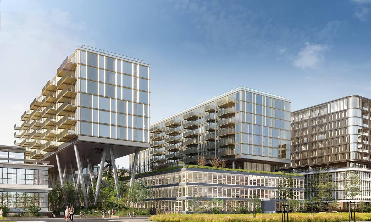 KCAP a créé le complexe OKU dans le quartier de la Maison de la Mode à l'Ouest d'Amsterdam modernité et écologie se côtoient