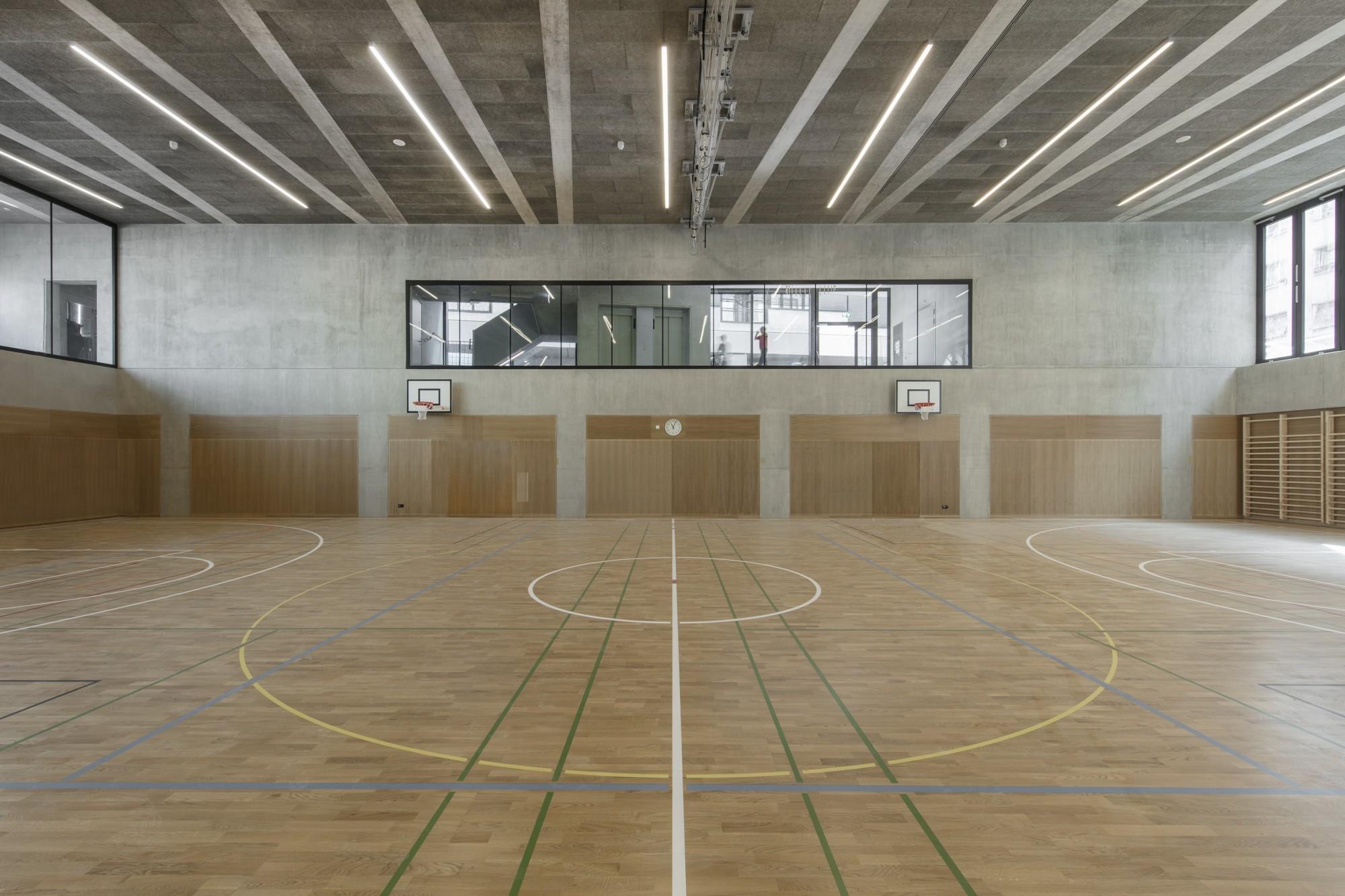 Bâtiment d'équipements publics boulevard St-Georges 21 Genève, salle de sports