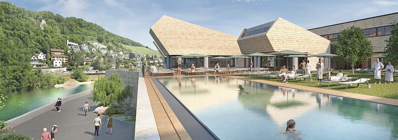 Le projet du célèbre architecte suisse Mario Botta prévoit un réaménagement du quartier des bains de la ville de Baden, où se trouvent les ruines médiévales.