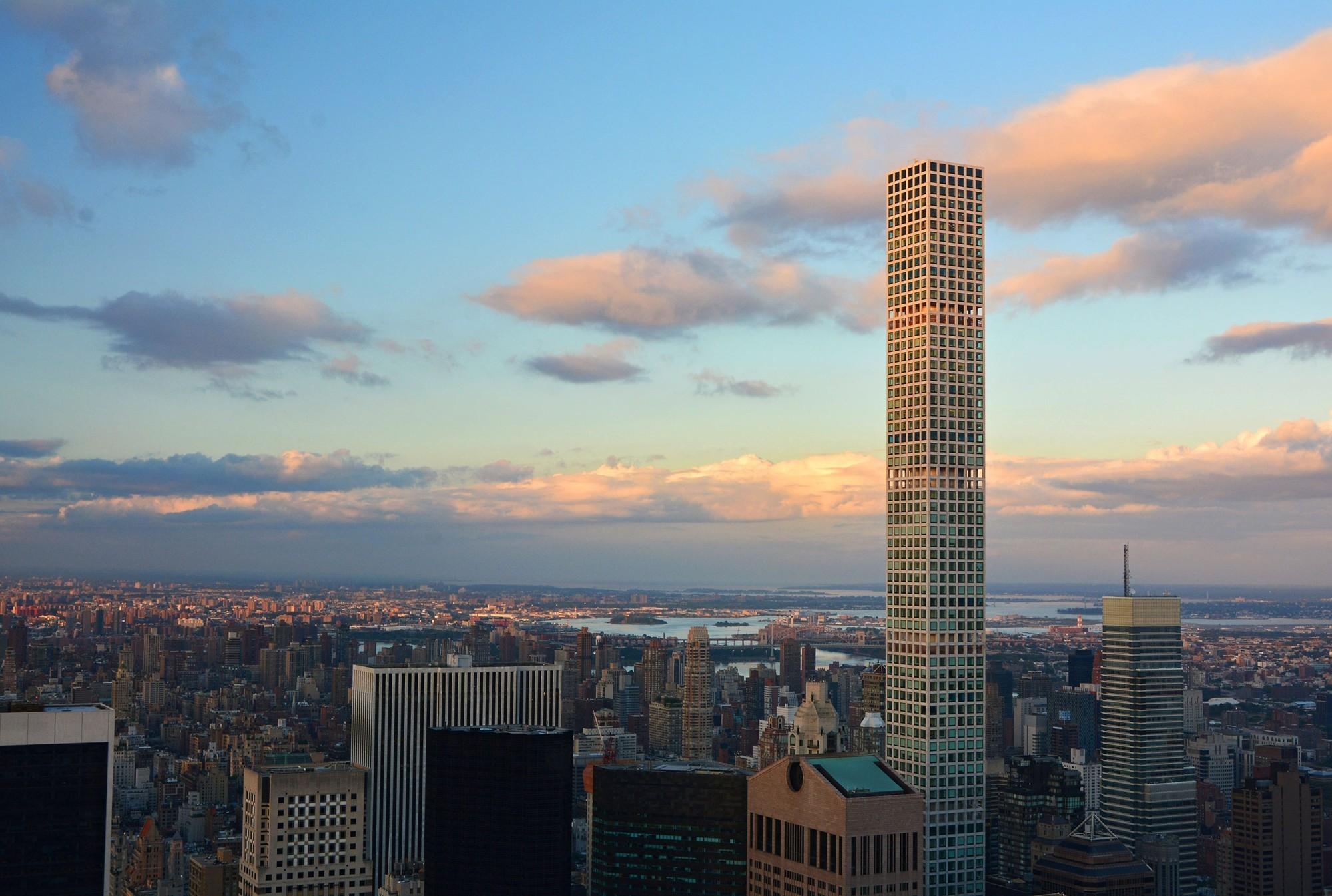 La tour du 432 Park Avenue: les gratte-ciel sont de plus en plus étroits.