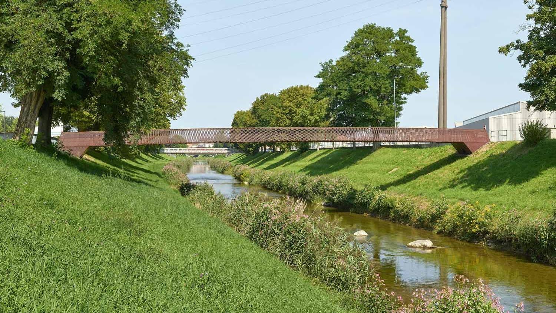 Passerelle des rives de la Broye à Payerne a remporté une distinction du jury.