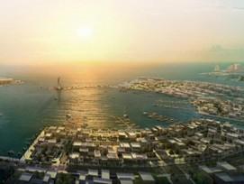 Au Qatar : la Smart city de Lusail , 40 milliards d'euros pour une livraison fin 2022.©James Lapham. Vue 1 sur 5