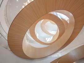 escalier du siège olympique à Vidy-Lausanne