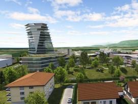 Le projet de Swissquote à Gland (VD).