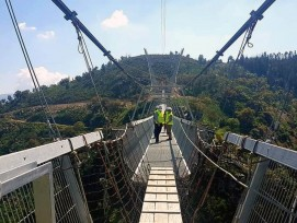 516 Arouca. Plus long pont suspendu piétonnier du monde. Portugal