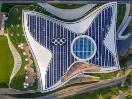Le Comité international olympique (CIO) a emménagé dans son nouveau siège à Lausanne, sur les rives du lac Léman, au printemps 2019.