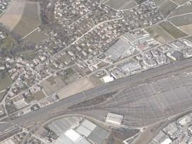 La zone sud du village de Lonay (VD), en bordure d'autoroute, doit notamment accueillir deux nouveaux quartiers.