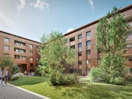 Les immeubles actuels de La Suettaz seront bientôt remplacés par quatre bâtiments totalisant 380 logements.