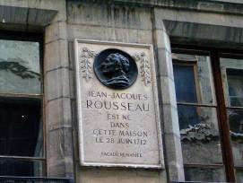 Plaque maison naissance Rousseau_Genève
