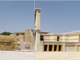 Le palais mythique de Cnossos en Crète reconstitué numériquement.