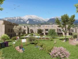 Le nouveau quartier des rives de Bramois à Sion est une oasis de calme et verdure